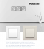 2-gang one-way switch, complete, Karre Plus, Panasonic, 10A, 250VAC, beige, WKTC0009-2BG - 2