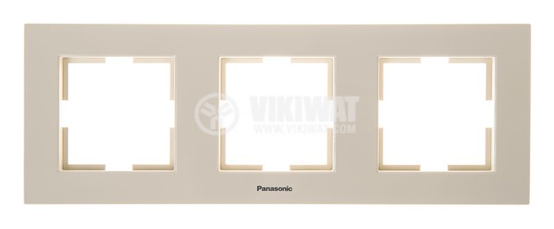 3-gang frame, Karre Plus. Panasonic, horizontal, 81x225mm, beige, WKTF0803-2BG - 1