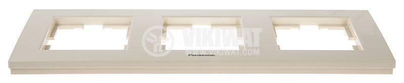 3-gang frame, Karre Plus. Panasonic, horizontal, 81x225mm, beige, WKTF0803-2BG - 3
