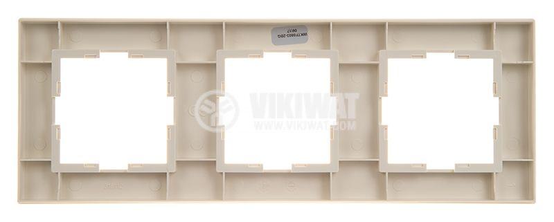 3-gang frame, Karre Plus. Panasonic, horizontal, 81x225mm, beige, WKTF0803-2BG - 4