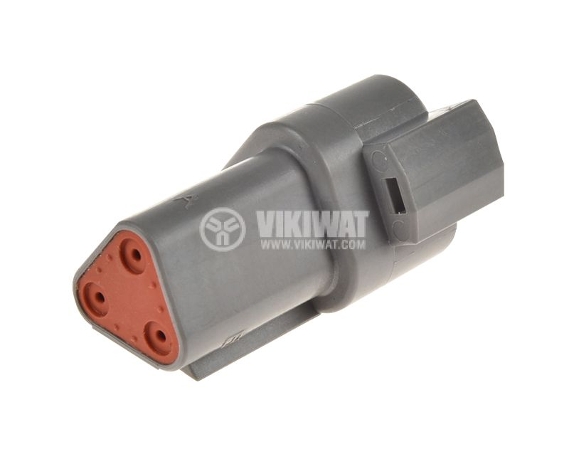 Connector DEUTSCH DT04-3P, 3 pins, 13A, male - 1