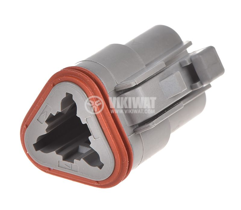 Connector DEUTSCH DT06-3S, 3 pins, 13A, female - 1