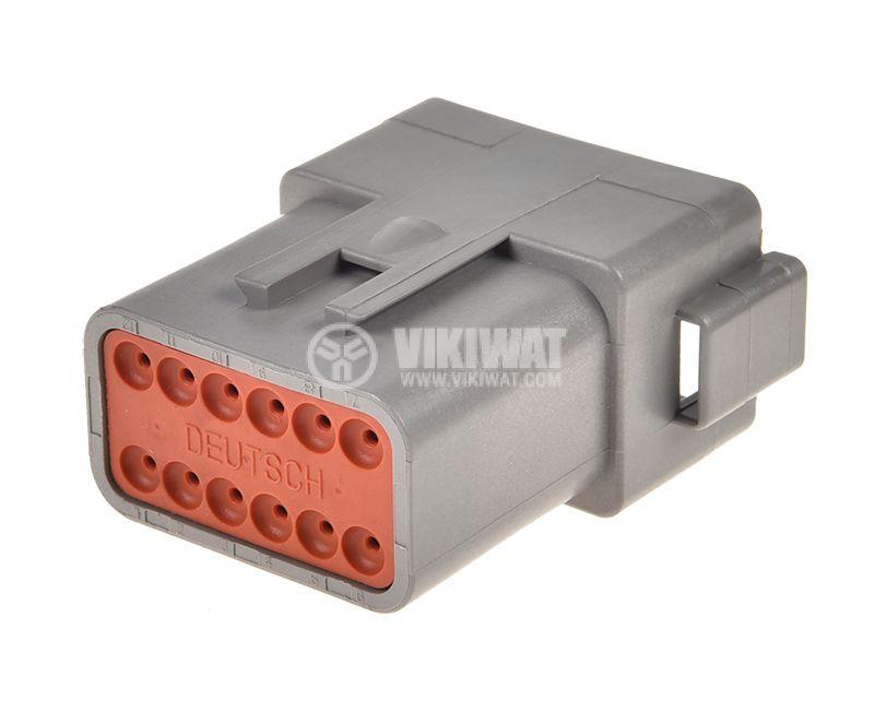 Connector DEUTSCH DT04-12P, 12 pins, 13A, male - 2