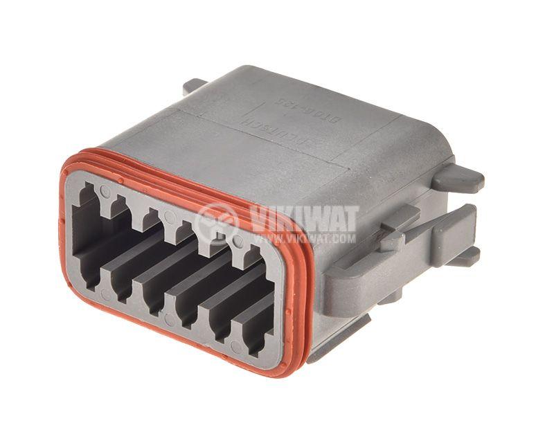 Connector DEUTSCH DT06-12SA, 12 pins, 13A, female - 1