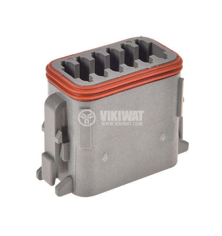Connector DEUTSCH DT06-12SA, 12 pins, 13A, female - 3