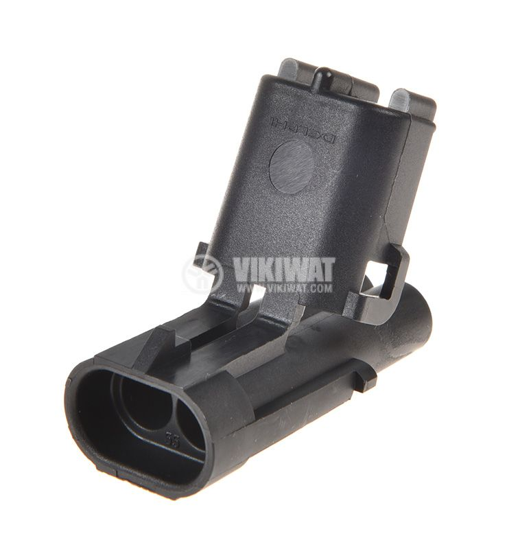 Connector Automotive, male, 2pin, wire-conductor - 1