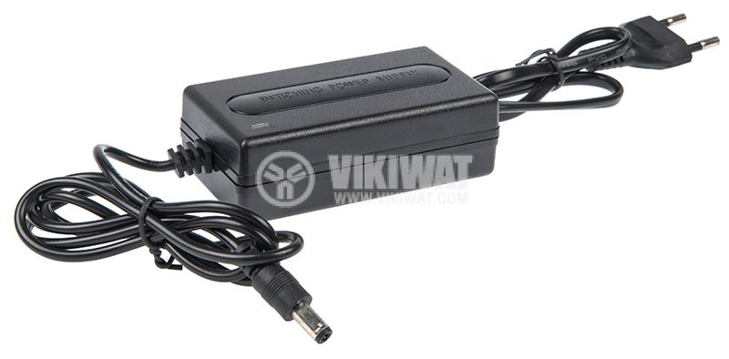 Adapter, 12VDC, 2A, 24W, 100-240VAC, 5.5x2.5mm, stabilized - 1