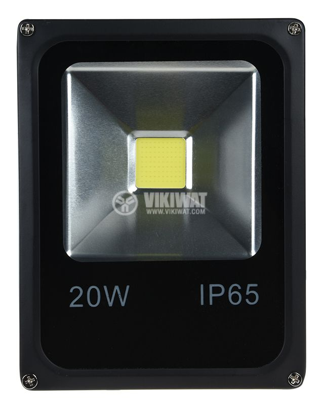 LED прожектор 12/24VDC, 20W, студенобял, 1700lm, IP65, влагозащитен - 1