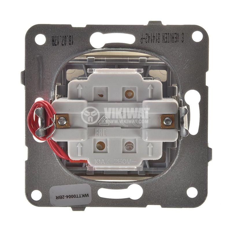 Two-way Switch, illuminated, Karre Plus, Panasonic, 10A, 250VAC, bronze, WKTT0004-2BR, mechanism+rocker - 3