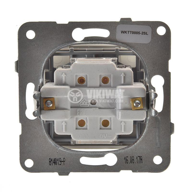 One-way Switch, Karre Plus, Panasonic, 10A, 250VAC, silver, WKTT0005-2SL, mechanism+rocker - 3