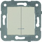 Електрически ключ светещ, Karre Plus, Panasonic, сх.5 двоен сериен, 10A, 250VAC, за вграждане, бронз, WKTT0010-2BR, механизъм+капак