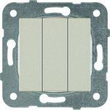 Електрически ключ, Karre Plus, Panasonic, сх.1 троен, 10A, 250VAC, за вграждане, бронз, WKTT0015-2BR, механизъм+капак