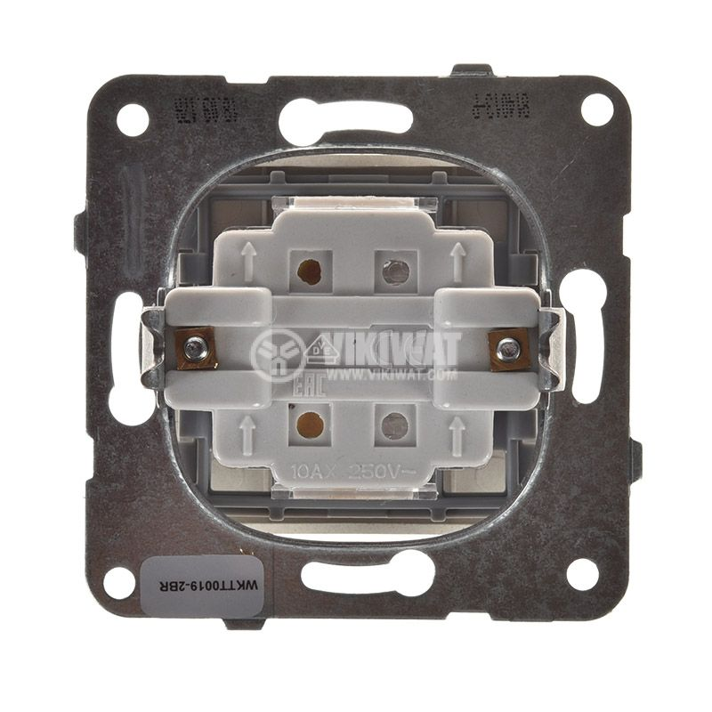 Electric switch with bell symbol, Karre Plus, Panasonic, 250 VAC, 10A, push button, bronze, WKTT0019-2BR, mechanism+rocker - 3