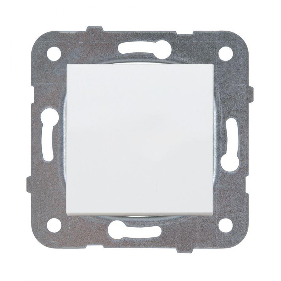One-way Switch, Karre Plus, Panasonic, 10A, 250VAC, white, WKTT0001-2WH, mechanism+rocker - 1