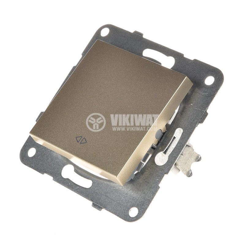 One-way Switch, Karre Plus, Panasonic, 10A, 250VAC, bronze, WKTT0005-2BR, mechanism+rocker - 2