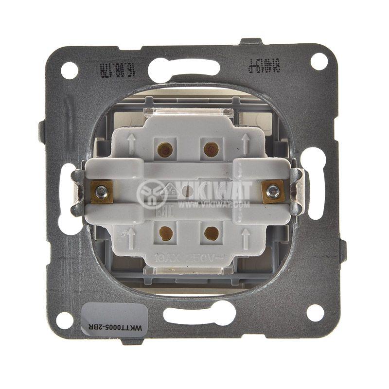 One-way Switch, Karre Plus, Panasonic, 10A, 250VAC, bronze, WKTT0005-2BR, mechanism+rocker - 3