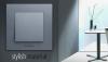 Розетка Karre Plus, Panasonic, 1 гнездо, TV, за вграждане, тъмносива, WKTТ0454-2DG, механизъм+капак - 3