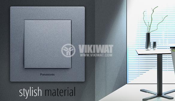 TV socket, Lossless, dark gray, WKTT0454-2DG, mechanism+cover plate - 3