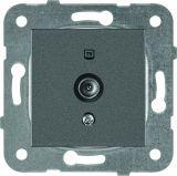 TV socket, Lossless, dark gray, WKTT0454-2DG, mechanism+cover plate