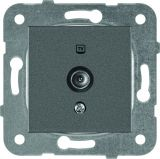 Розетка Karre Plus, Panasonic, 1 гнездо, TV, за вграждане, тъмносива, WKTТ0454-2DG, механизъм+капак