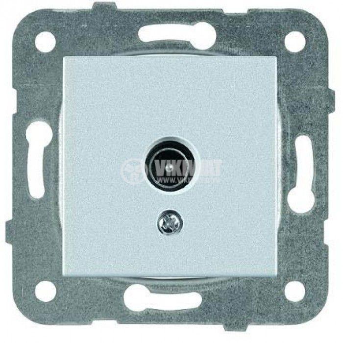 TV socket, Lossless, silver, WKTT0454-2SL, mechanism+cover plate - 1