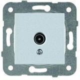 TV socket, Lossless, silver, WKTT0454-2SL, mechanism+cover plate