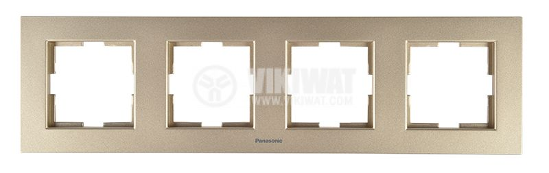 4-gang frame, Panasonic, horizontal, 81x296mm, bronze, WKTF0804-2BR - 1
