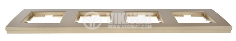 4-gang frame, Panasonic, horizontal, 81x296mm, bronze, WKTF0804-2BR - 2
