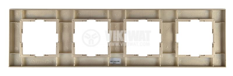 4-gang frame, Panasonic, horizontal, 81x296mm, bronze, WKTF0804-2BR - 3