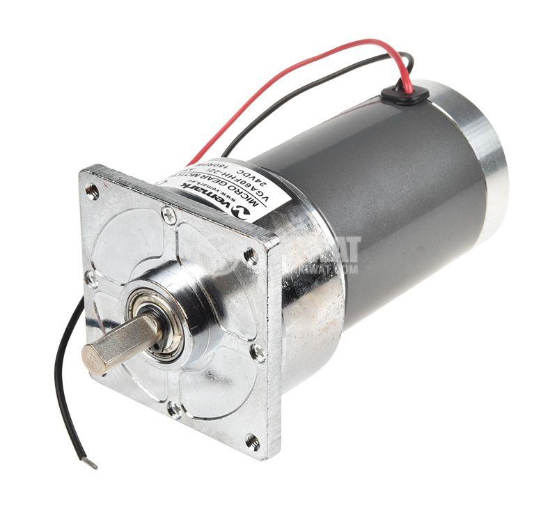 Електродвигател, постояннотоков, с редуктор, 24VDC, 180rpm, 0.6 A, VFGA60FHH-22i A802 - 1