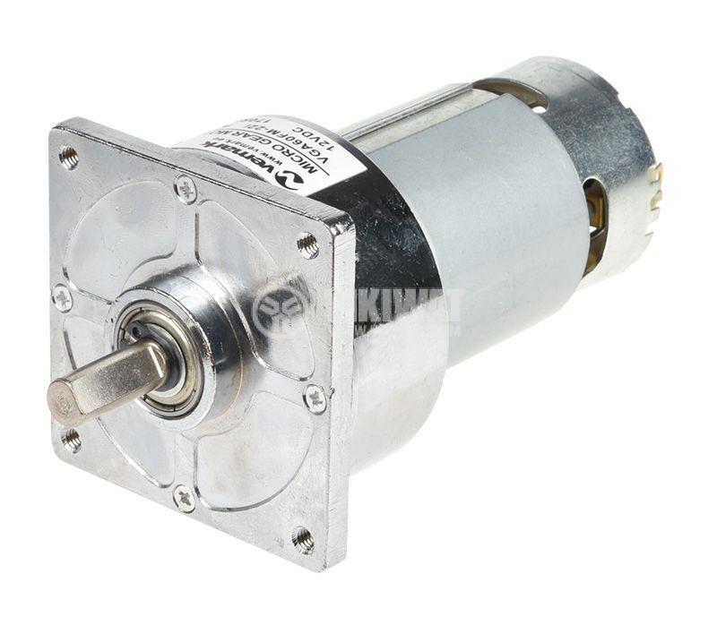 DC Motor Reducer, 12VDC, 170rpm, 0.5 A,  VFGA60FH-22i A802 - 2