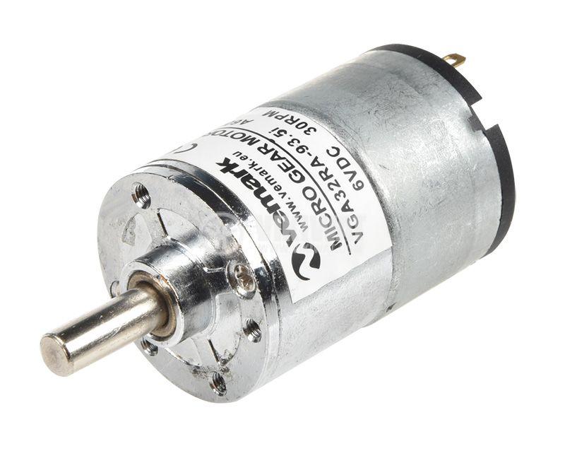 Електродвигател, постояннотоков, с редуктор, 6VDC, 30rpm, 0.1A, VFGA32RA-93.5i A608 - 1