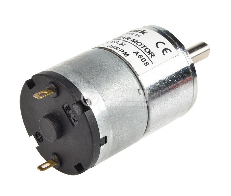 Електродвигател, постояннотоков, с редуктор, 6VDC, 30rpm, 0.1A, VFGA32RA-93.5i A608 - 2