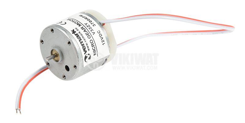 Електродвигател постояннотоков, 12VDC, 3700rpm, 0.07А, V32ZY - 1