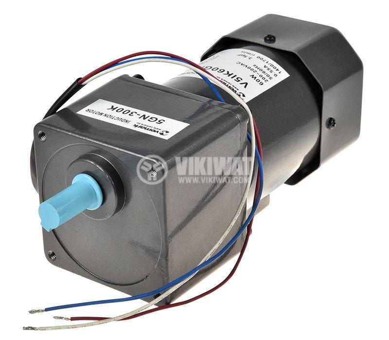 Променливотоков електродвигател с редуктор 220V мощност 60W - 1