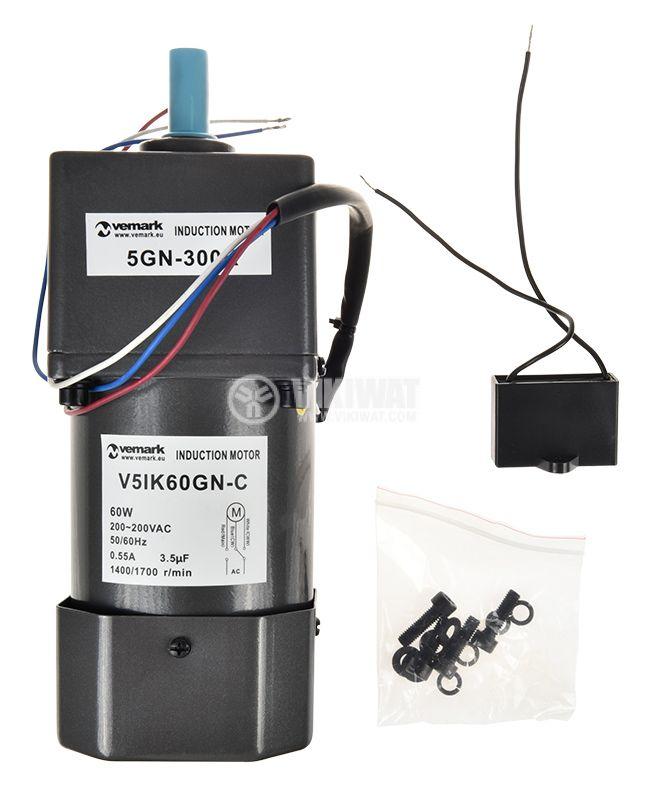 Induction Motor 220VAC, 60W, 4.5rpm, V51K60GN-C+5GN 300K - 2