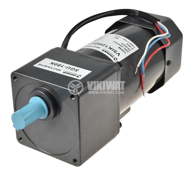 Induction Motor 220VAC, 120W, 1400/1700rpm, V51K120GU-C+5GU 180K - 1