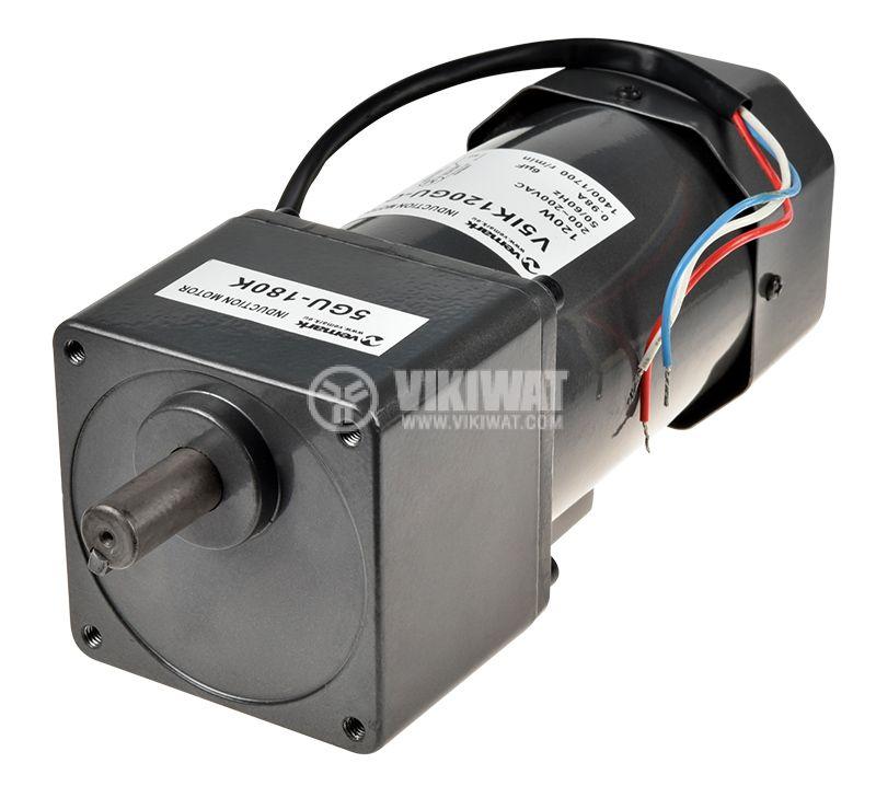 AC Gear motor 220VAC, 120W, 8rpm, V51K120GU-C+5GU 180K - 2