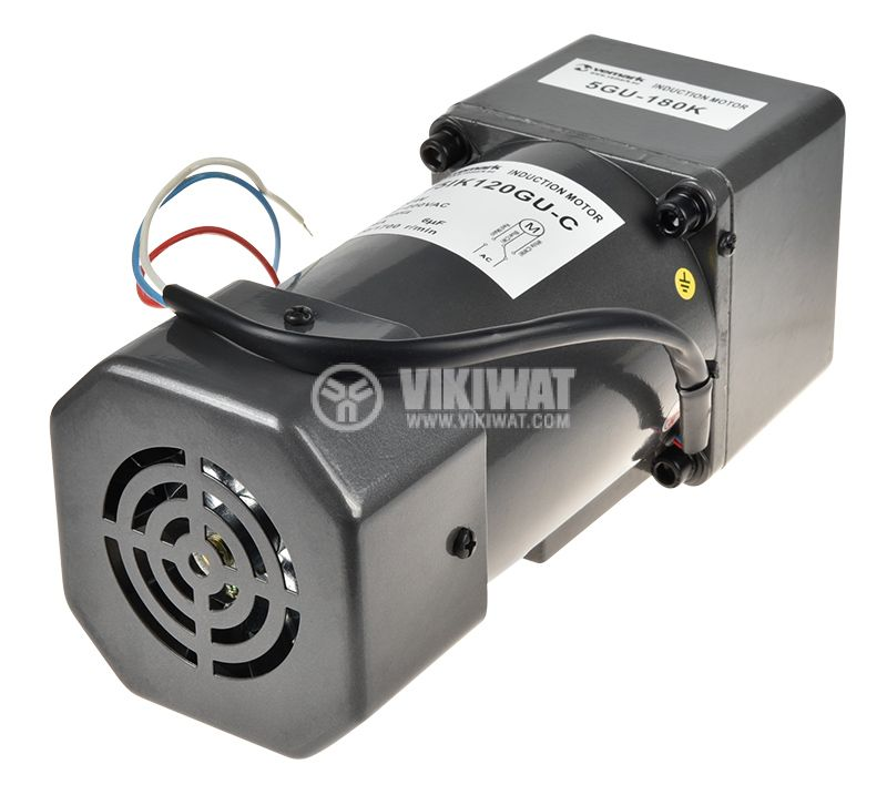 Електродвигател, променливотоков, с редуктор, 220VAC, 120W, 8rpm, V51K120GU-C+5GU 180K - 3