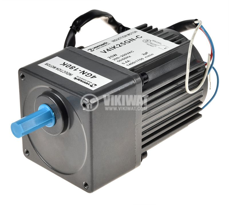 Променливотоков електродвигател с редуктор и мощност 25W - 1