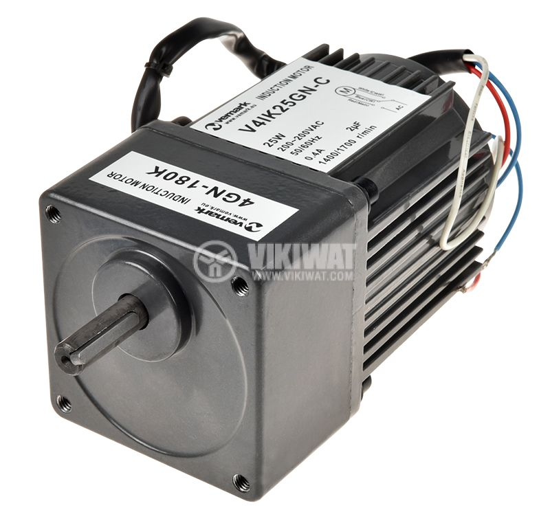 Електродвигател, променливотоков, с редуктор, 220VAC, 25W, 8rpm, V41K25GN-C+4GN 180K - 2