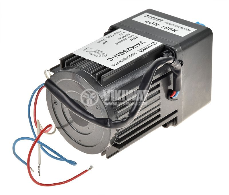 Електродвигател, променливотоков, с редуктор, 220VAC, 25W, 8rpm, V41K25GN-C+4GN 180K - 3