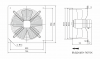 Fan, industrial, axial ф630mm, 15000m3 / h, 800W, FDA-4D-630B, 380VAC - 2