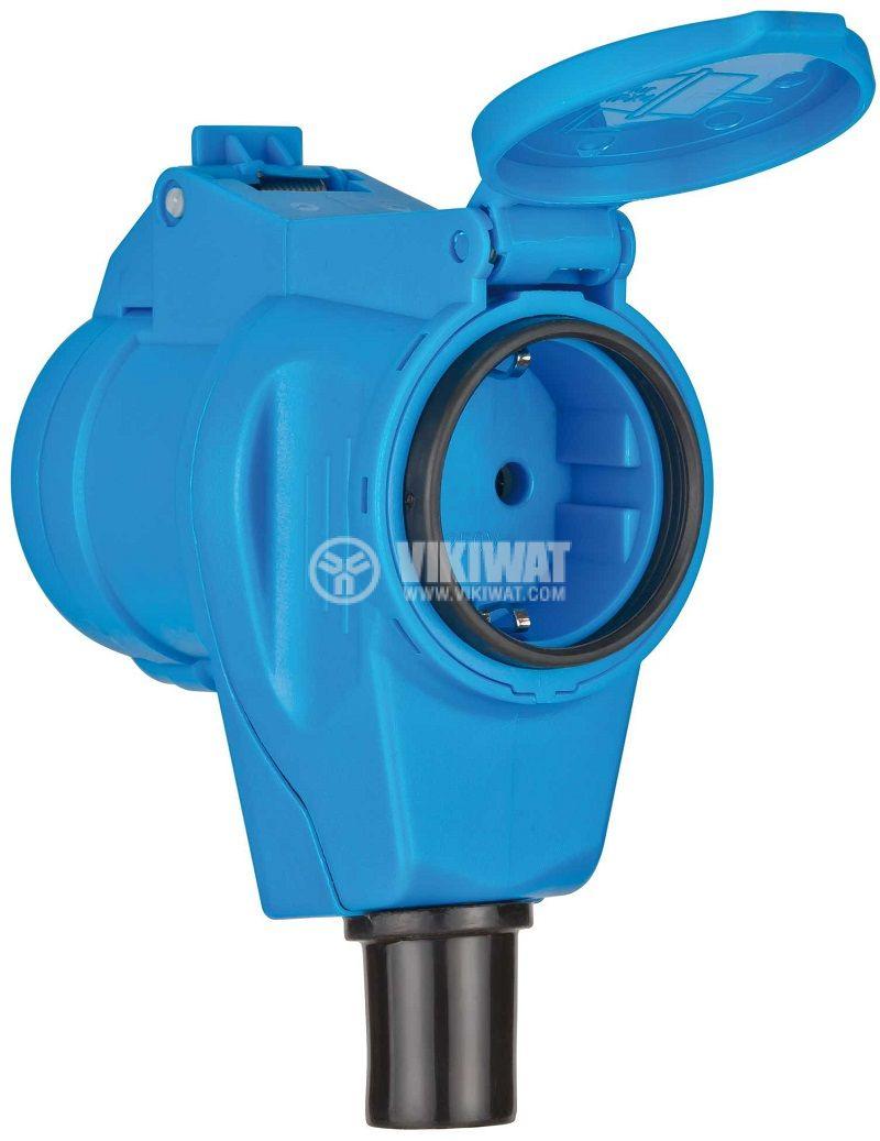 Макара удължител-разклонител, Brennenstuhl, Garant G CEE 2, 2-ка, 20m, 3x2.5mm2, синя, 1182470 - 3