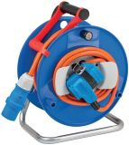 Extension reel, Brennenstuhl, Garant G CEE 2, 2-way, 20m, 3x2.5mm2, blue, 1182470