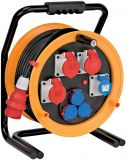 Cable reel CEE 4, 40m, 7-way, 5x2.5mm2, thermal protection, yellow, IP44, Brobusta®, Brennenstuhl, 1319110