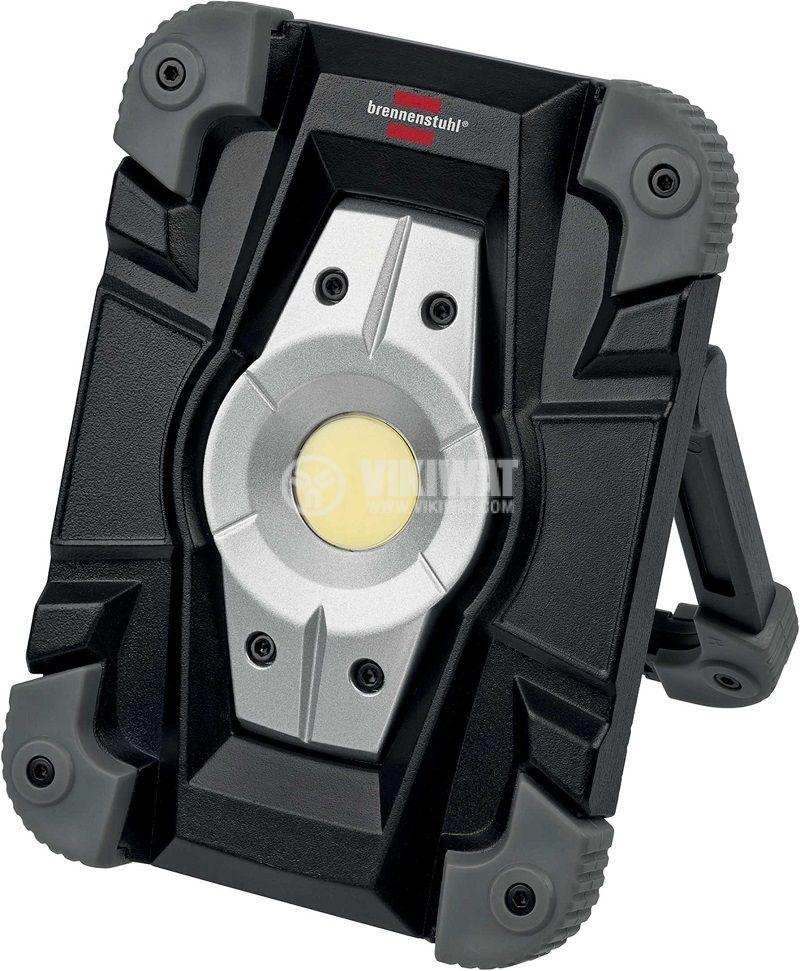 Преносима работна лампа LED Spot, Brennenstuhl, 10W, IP54, влагозащитена, презареждаема, 1173080 - 1