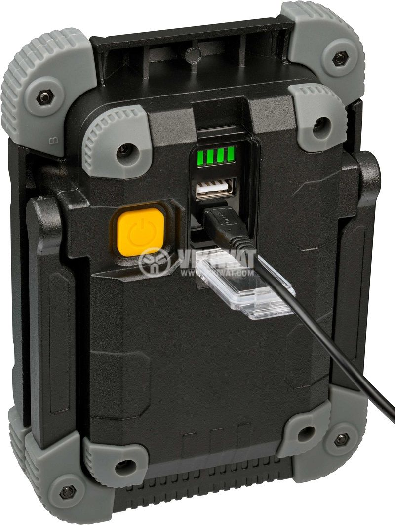 Преносима работна лампа LED Spot, Brennenstuhl, 10W, IP54, влагозащитена, презареждаема, 1173080 - 5