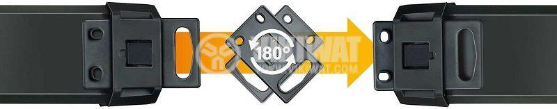 Разклонител 5-ца, Brennenstuhl, 3m кабел, черен, 1951550600 - 4