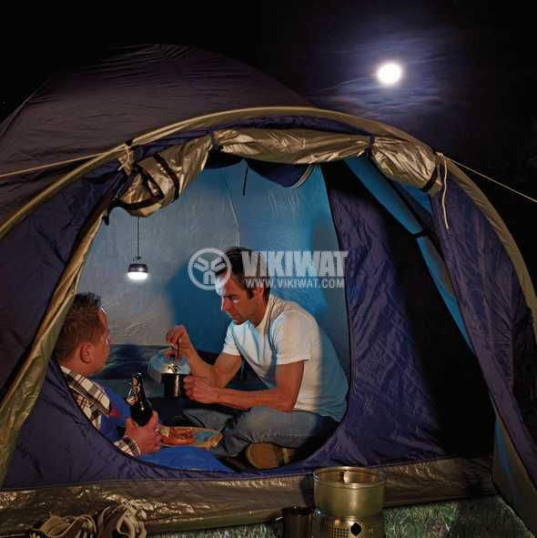 Подвижна LED лампа за палатка и риболов, Brennenstuhl, с батерии и кука, 1171550 - 2